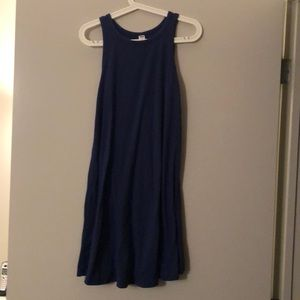 Sleeveless Blue Cotton Dress